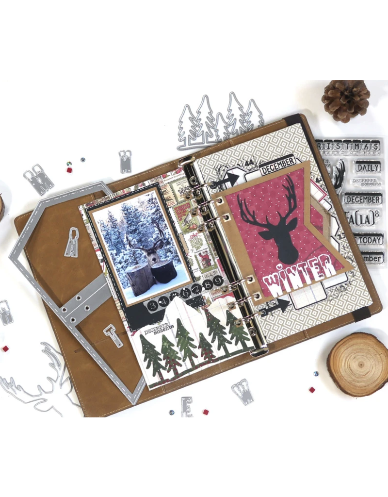 Elizabeth Crafts Planner Essentials 13 - Xmas Winter Insert
