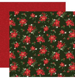 Carta Bella Hello Christmas Paper: Poinsettia Floral