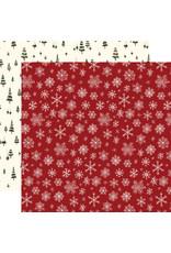 Carta Bella Hello Christmas Paper: Snowflakes