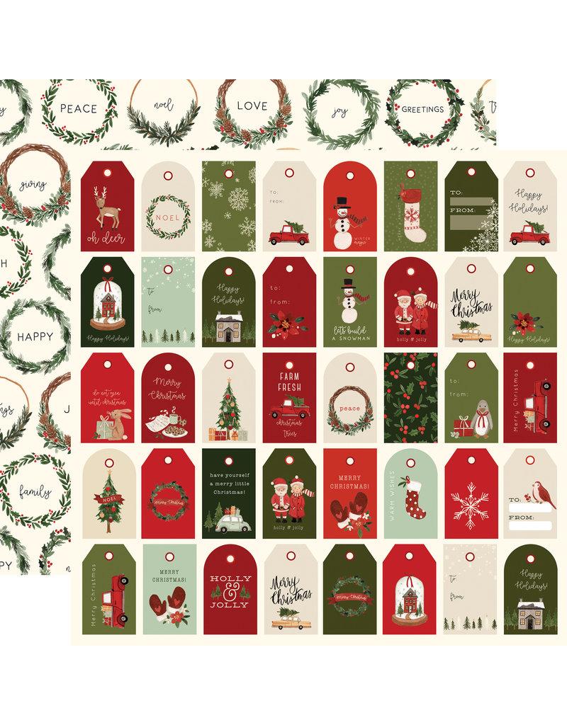 Carta Bella Hello Christmas Paper: Holiday Tags