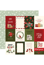 Carta Bella Hello Christmas Paper: 3X4 Journaling Cards