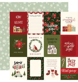 Carta Bella Hello Christmas Paper: 3X4 Journaling Cards
