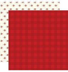 Carta Bella Hello Christmas Paper: Red Plaid