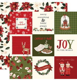 Carta Bella Hello Christmas Paper: 4X4 Journaling Cards