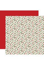 Carta Bella Hello Christmas Paper: Holly Berries