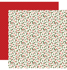 Carta Bella Hello Christmas Paper: Holly Berries