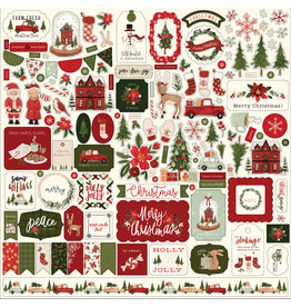 Carta Bella Hello Christmas:  Element Sticker