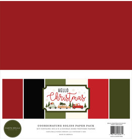Carta Bella Hello Christmas:  Solids Kit