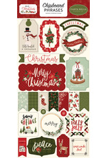 Carta Bella Hello Christmas:  6x13 Chipboard Phrases