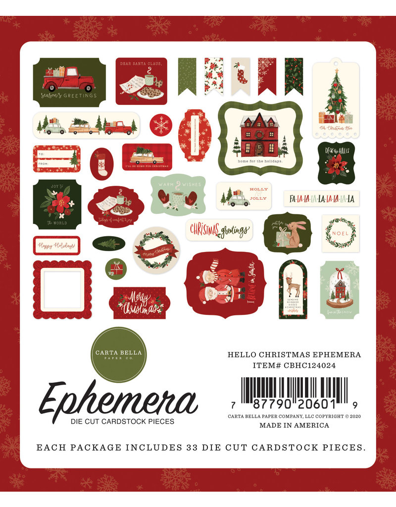 Carta Bella Hello Christmas:  Ephemera