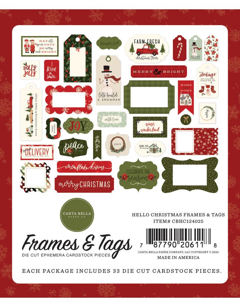 Carta Bella Hello Christmas:  Frames & Tags