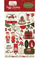 Carta Bella Hello Christmas:  Puffy Stickers