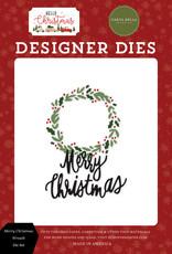 Carta Bella Hello Christmas: Merry Christmas Wreath Die Set