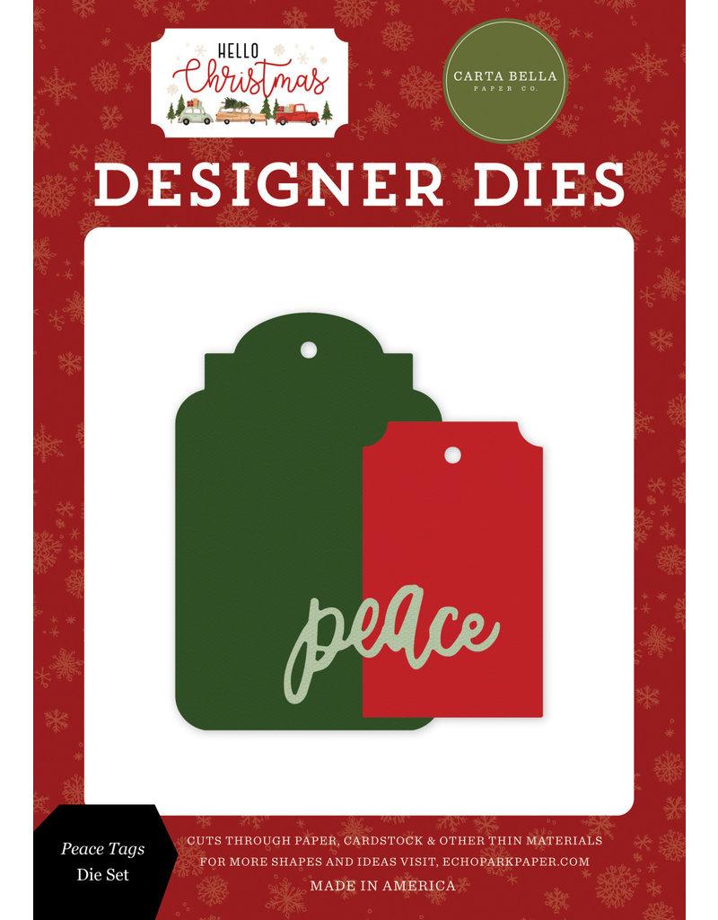 Carta Bella Hello Christmas: Peace Tags Die Set