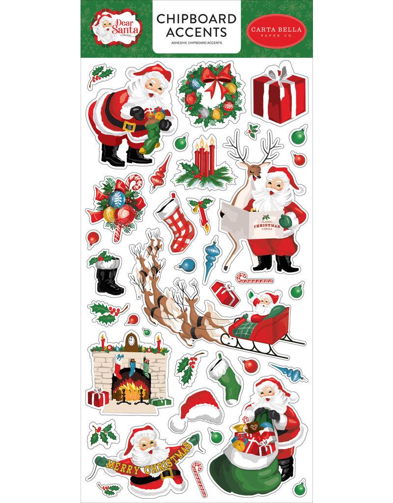 Carta Bella Dear Santa:  6x13 Chipboard Accents