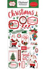 Carta Bella Dear Santa:  6x13 Chipboard Phrases