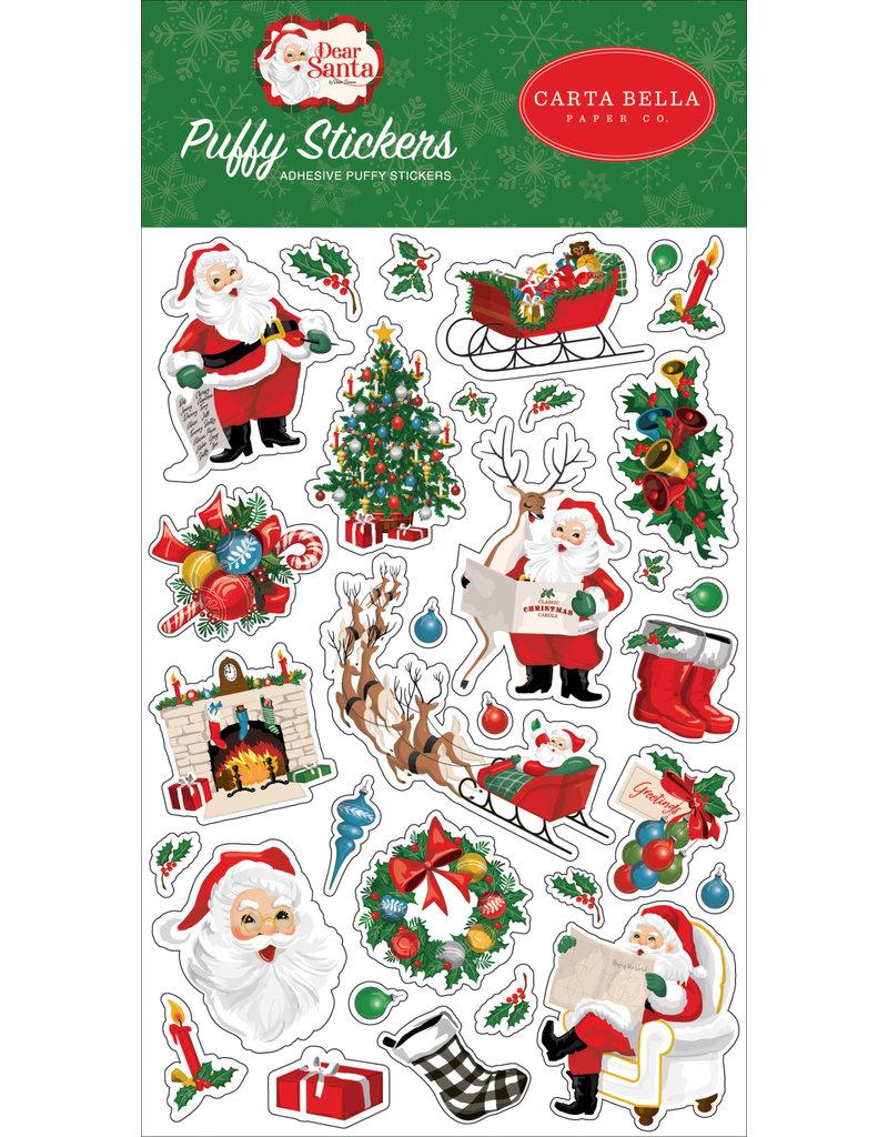 Carta Bella Dear Santa:  Puffy Stickers