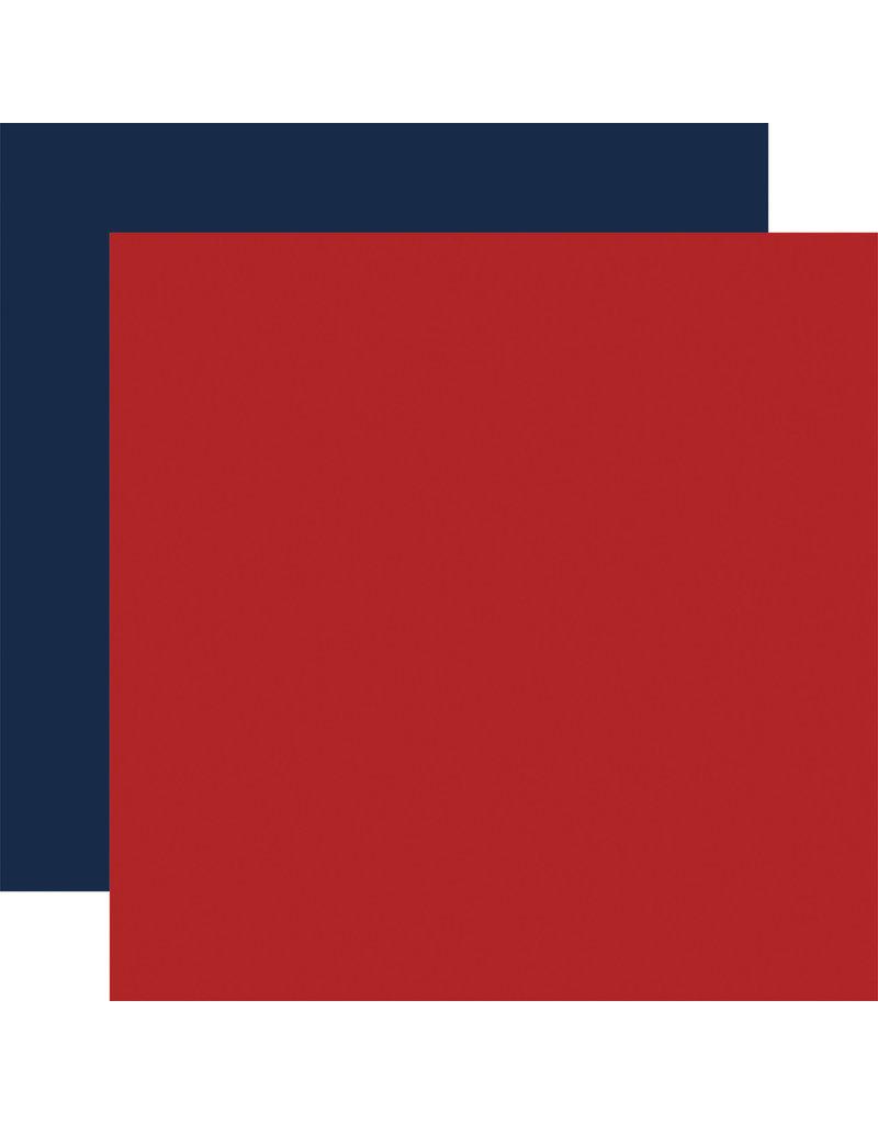 Carta Bella Silent Night Paper: Red / Navy