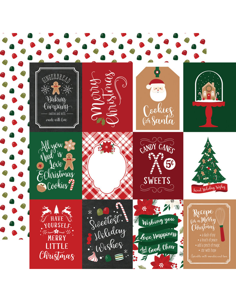 Echo Park Gingerbread Christmas Paper: 3X4 Journaling Cards