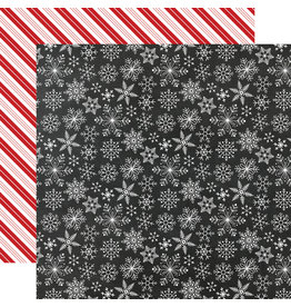Echo Park Gingerbread Christmas Paper: Snowflakes