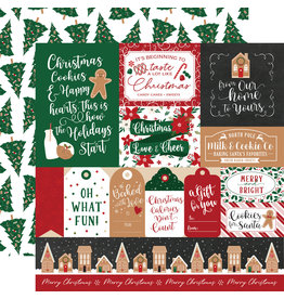 Echo Park Gingerbread Christmas Paper: Multi Journaling Cards