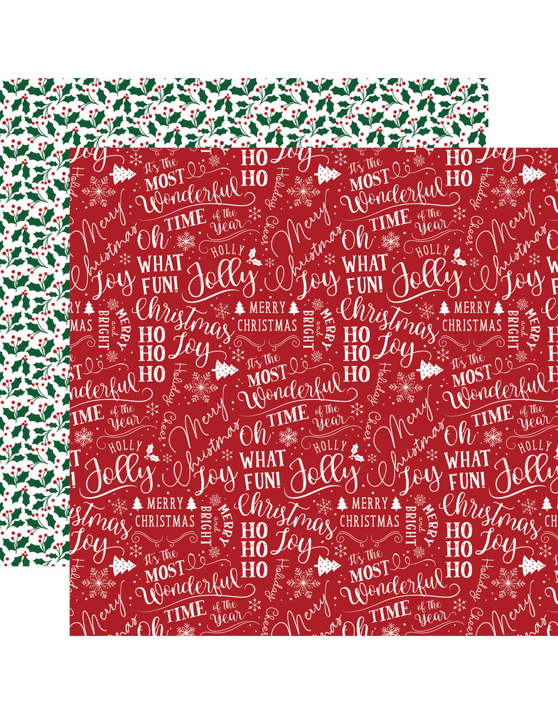 Echo Park Gingerbread Christmas Paper: Holiday Cheer