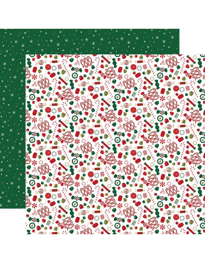 Echo Park Gingerbread Christmas Paper: Candy Toss