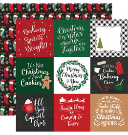 Echo Park Gingerbread Christmas Paper: 4X4 Journaling Cards