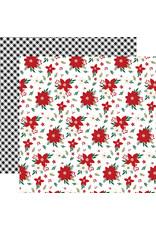 Echo Park Gingerbread Christmas Paper: Poinsettia