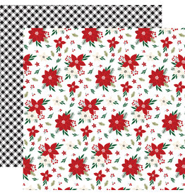 Echo Park Gingerbread Christmas Paper: Poinsettia