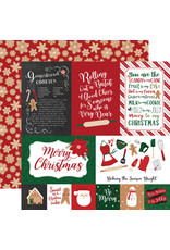 Echo Park Gingerbread Christmas Paper: 4X6 Journaling Cards