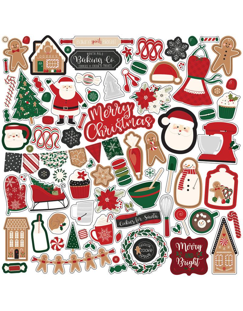 Echo Park Gingerbread Christmas: Element Sticker