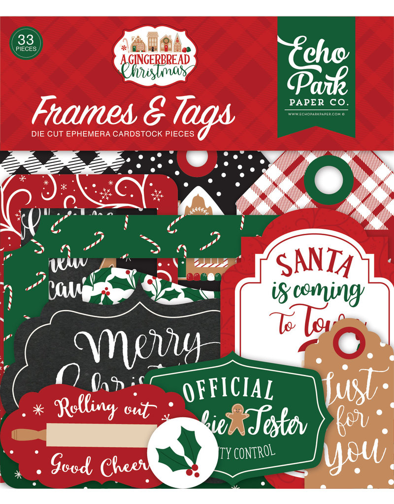Echo Park Gingerbread Christmas: Frames & Tags