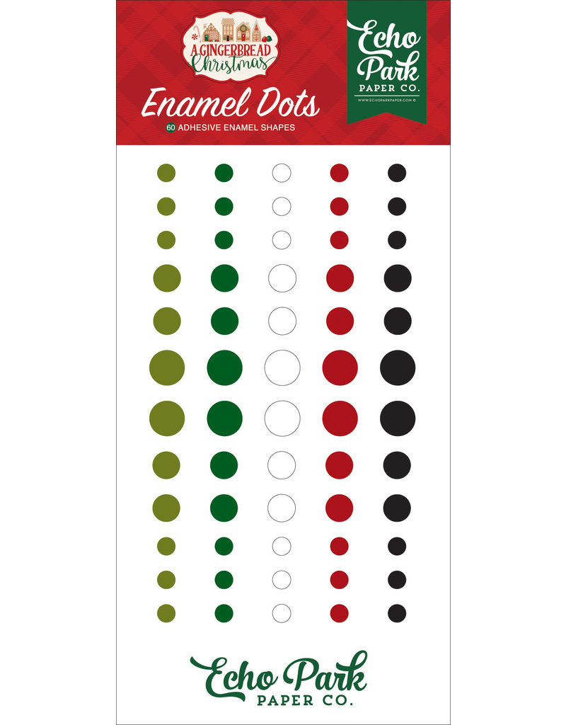 Echo Park Gingerbread Christmas: Enamel Dots