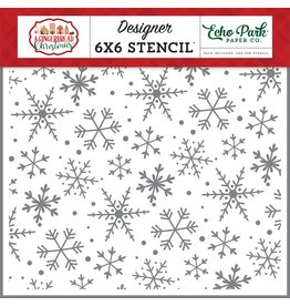 Echo Park Gingerbread Christmas: Magical Snowflakes Stencil