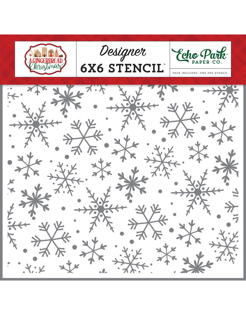 Echo Park Gingerbread Christmas: Magical Snowflakes Stencil