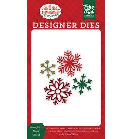 Echo Park Gingerbread Christmas: Snowflake Magic Die Set