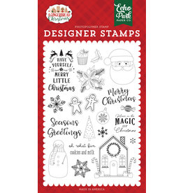 Echo Park Gingerbread Christmas: Cookies and Milk Stamp Set