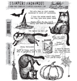 Tim Holtz Snarky Cat Halloween: Cling Stamp