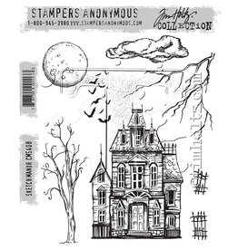 Tim Holtz Sketch Manor: Cling Stamp