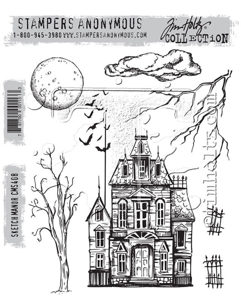 Tim Holtz Sketch Manor: Cling Stamp