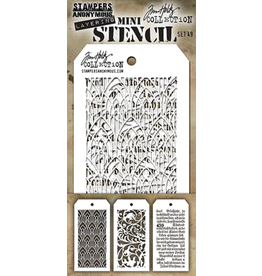 Tim Holtz Mini Layered Stencil Set #49
