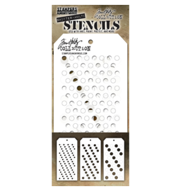 Tim Holtz Shifter Multidots: Layered Stencil 3 pack