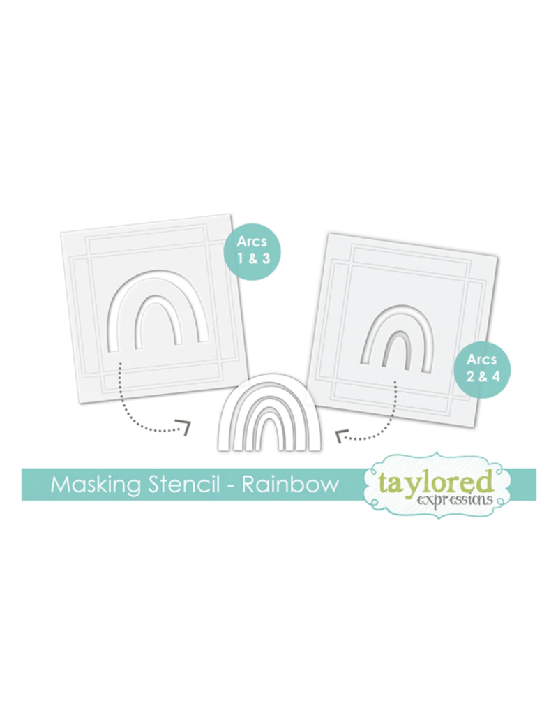 Taylored expressions Masking Stencil: Make a Rainbow