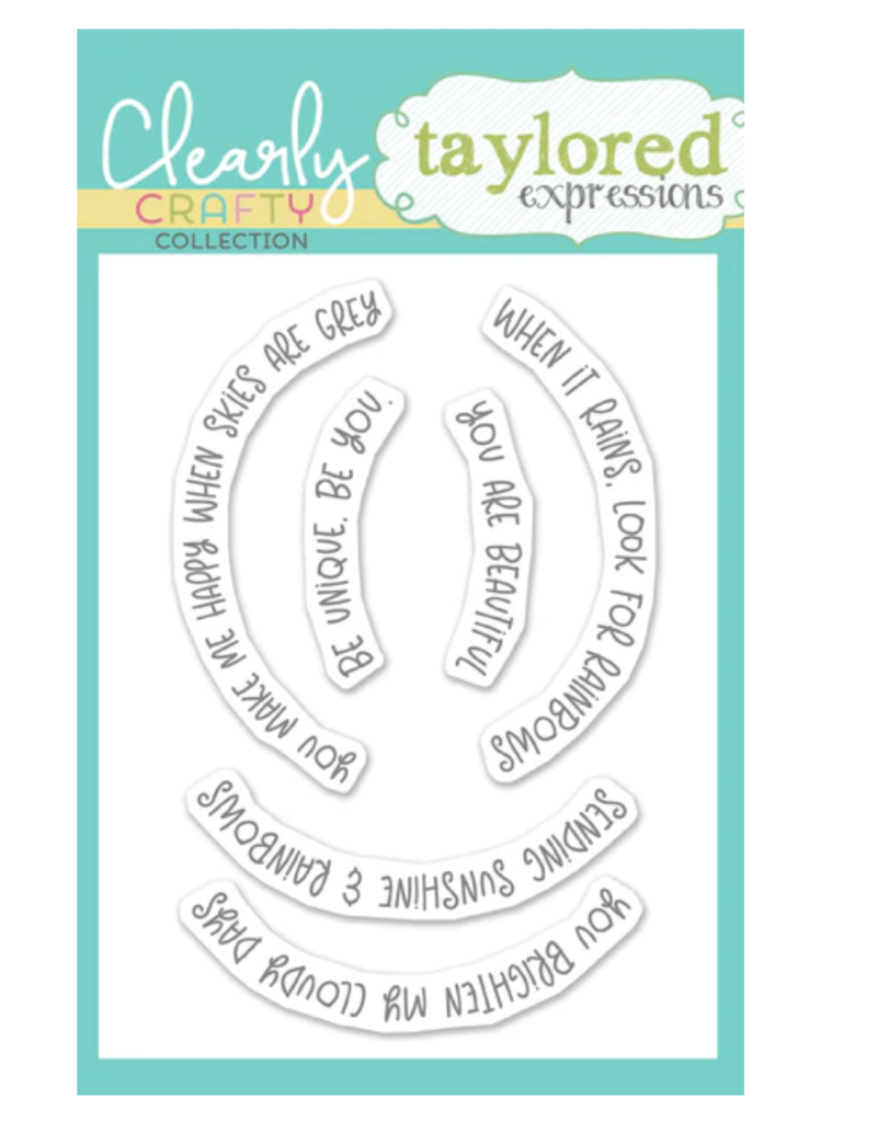 Taylored expressions Over the Rainbow Sentiments Stamp