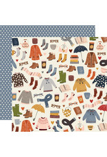 simple stories Cozy Days Paper: Sweaters & Boots