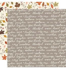 simple stories Cozy Days Paper: Harvest Wishes