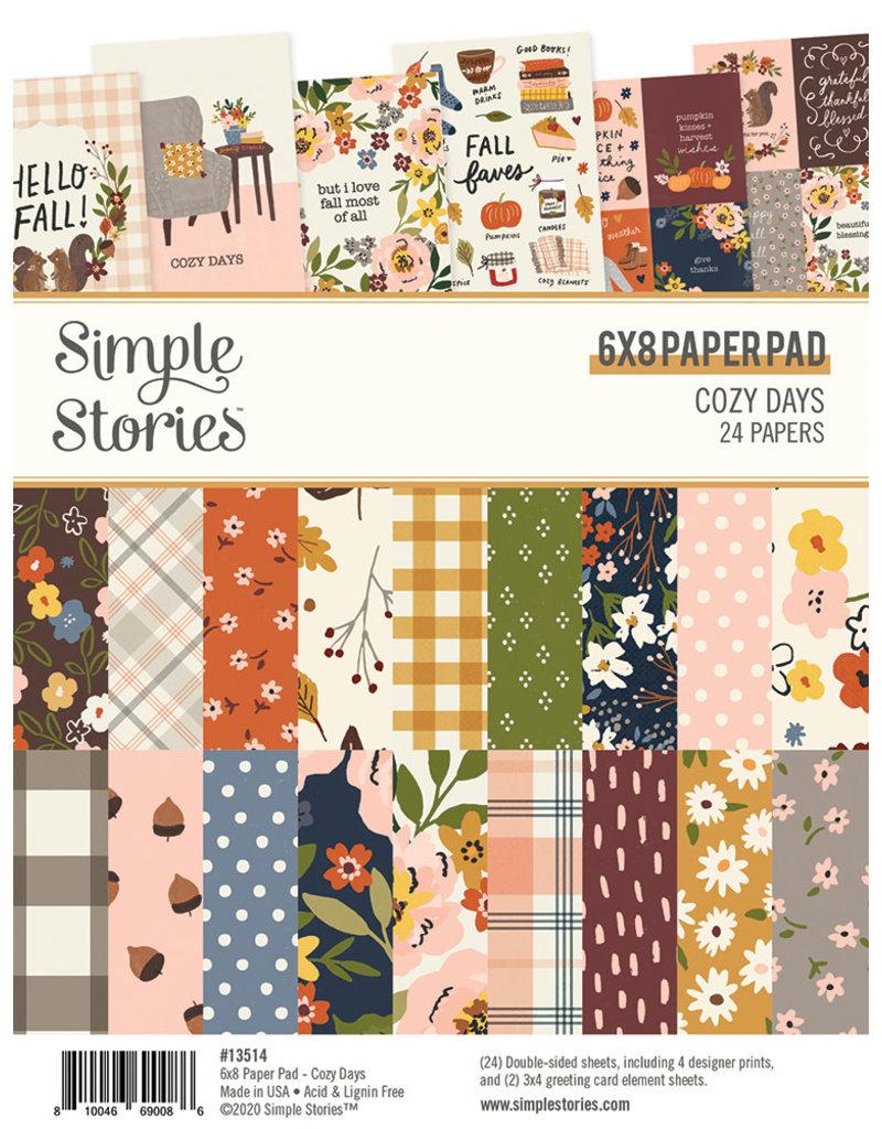 simple stories Cozy Days: 6x8 Pad