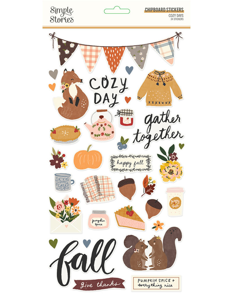 simple stories Cozy Days: 6x12 Chipboard