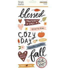 simple stories Cozy Days: Foam Stickers